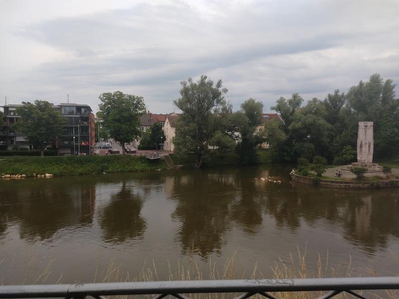 Die Donau an der Adlerbastei