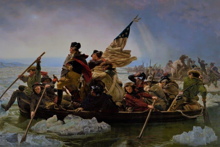 Washington quert den Delaware. Diese ikonische Szene ist ein beliebtes Ereignis der Alternative History