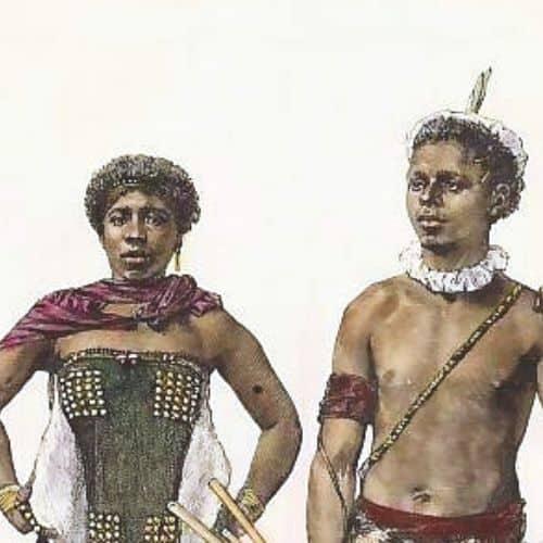 Porträt zweier Bantu in Südafrika