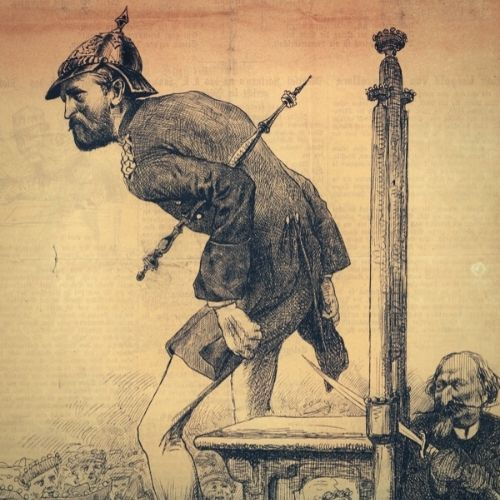 Die Hohenzollern, hier in einer alten Karikatur aus dem 19. Jahrhundert.