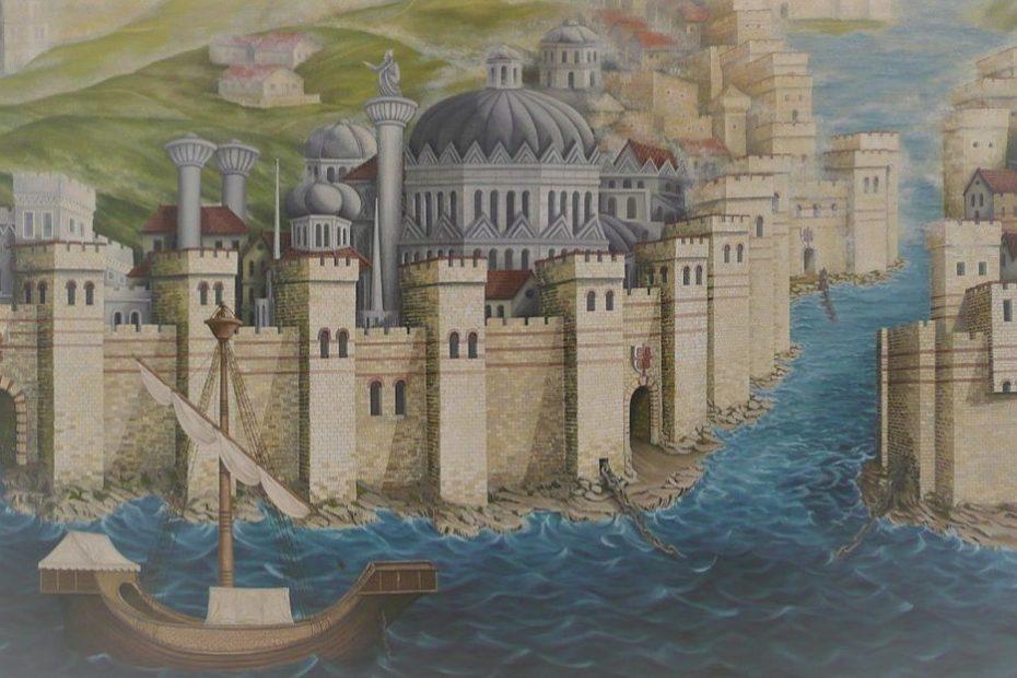 Der erste Kreuzzug versammelt sich in Konstantinopel