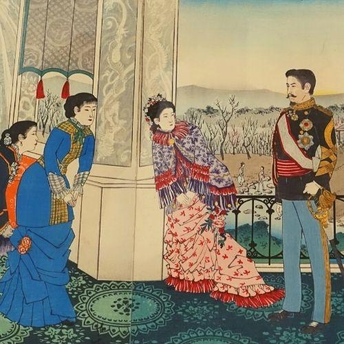 Der Kaiser Japans in der Zeit der Meiji-Restauration
