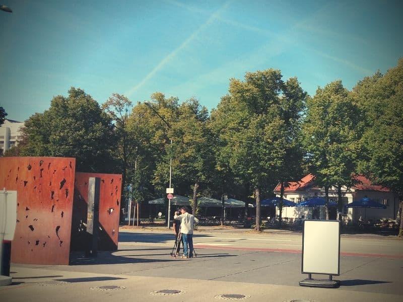 Der Ort des Oktoberfestattentats an der Theresienwiese