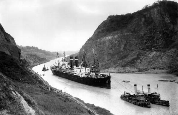 Der Panamakanal nach der Eröffnung 1914