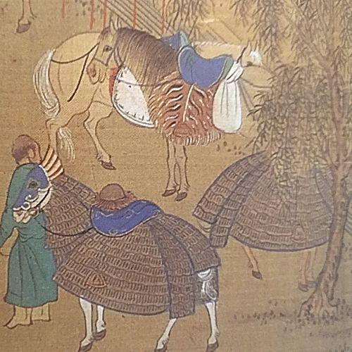 Die Xiongnu (angeblich) in einer chinesischen Darstellung der Ming-Zeit.